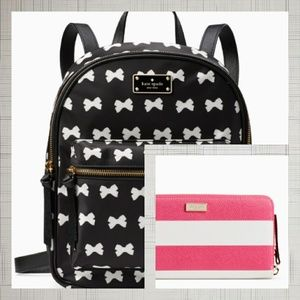 Kate Spade Backpack/Laptop Bag and Wallet Combo